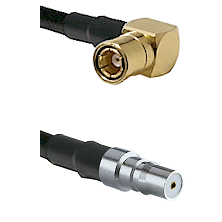 SMB Right Angle Female on LMR100 to QMA Female Cable Assembly