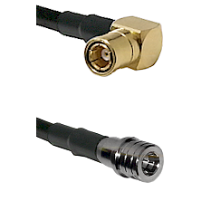 SMB Right Angle Female on LMR100 to QMA Male Cable Assembly