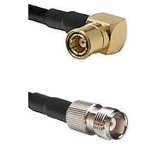 SMB Right Angle Female on LMR100 to TNC Female Cable Assembly