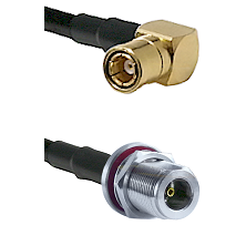 SMB Right Angle Female on LMR-195-UF UltraFlex to N Female Bulkhead Cable Assembly