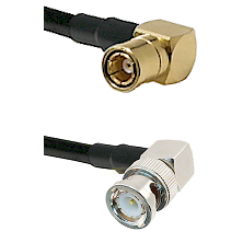 SMB Right Angle Female on LMR-195-UF UltraFlex to BNC Right Angle Male Cable Assembly