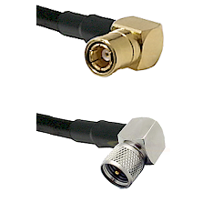 SMB Right Angle Female on LMR-195-UF UltraFlex to Mini-UHF Right Angle Male Cable Assembly