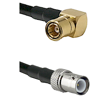 SMB Right Angle Female on LMR-195-UF UltraFlex to BNC Reverse Polarity Female Cable Assembly
