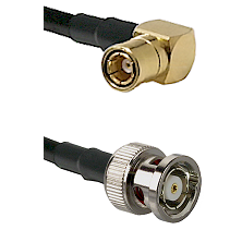 SMB Right Angle Female on LMR-195-UF UltraFlex to BNC Reverse Polarity Male Cable Assembly