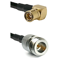 SMB Right Angle Female on LMR-195-UF UltraFlex to N Reverse Polarity Female Cable Assembly