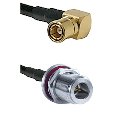 SMB Right Angle Female on LMR-195-UF UltraFlex to N Reverse Polarity Female Bulkhead Coaxial Cable A