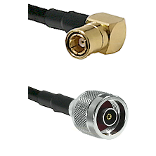 SMB Right Angle Female on LMR-195-UF UltraFlex to N Reverse Polarity Male Cable Assembly