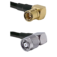 SMB Right Angle Female on LMR-195-UF UltraFlex to TNC Reverse Polarity Right Angle Male Coaxial Cabl