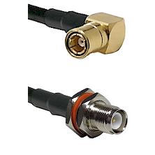 SMB Right Angle Female on LMR-195-UF UltraFlex to TNC Reverse Polarity Female Bulkhead Coaxial Cable