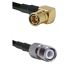 SMB Right Angle Female on LMR-195-UF UltraFlex to TNC Reverse Polarity Female Cable Assembly