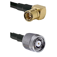 SMB Right Angle Female on LMR-195-UF UltraFlex to TNC Reverse Polarity Male Cable Assembly
