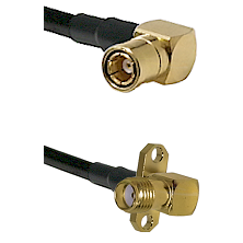 SMB Right Angle Female on LMR-195-UF UltraFlex to SMA 2 Hole Right Angle Female Coaxial Cable Assemb