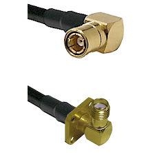 SMB Right Angle Female on LMR-195-UF UltraFlex to SMA 4 Hole Right Angle Female Coaxial Cable Assemb