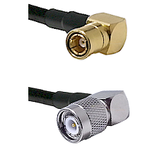 SMB Right Angle Female on LMR-195-UF UltraFlex to TNC Right Angle Male Cable Assembly