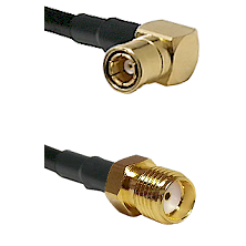 SMB Right Angle Female on LMR-195-UF UltraFlex to SMA Reverse Thread Female Cable Assembly