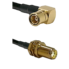 SMB Right Angle Female on LMR-195-UF UltraFlex to SMA Female Bulkhead Cable Assembly