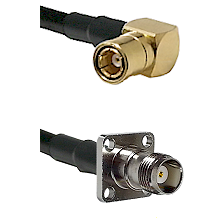 SMB Right Angle Female on LMR-195-UF UltraFlex to TNC 4 Hole Female Cable Assembly