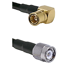 SMB Right Angle Female on LMR-195-UF UltraFlex to TNC Male Cable Assembly
