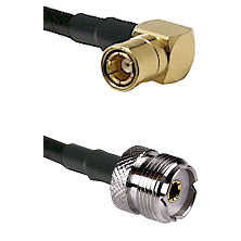 SMB Right Angle Female on LMR-195-UF UltraFlex to UHF Female Cable Assembly