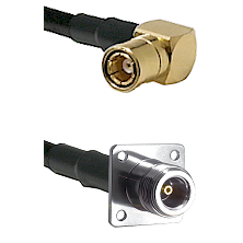 SMB Right Angle Female on LMR200 UltraFlex to N 4 Hole Female Cable Assembly