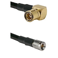 SMB Right Angle Female on RG142 to 10/23 Male Cable Assembly