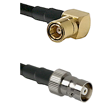 SMB Right Angle Female on RG142 to C Female Cable Assembly