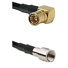 SMB Right Angle Female on RG142 to FME Male Cable Assembly