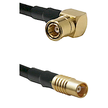 SMB Right Angle Female on RG142 to MCX Female Cable Assembly