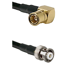 SMB Right Angle Female on RG142 to MHV Male Cable Assembly