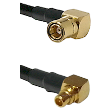 SMB Right Angle Female on RG174 to MMCX Right Angle Male Cable Assembly