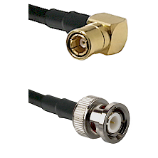 SMB Right Angle Female on RG400 to BNC Male Cable Assembly