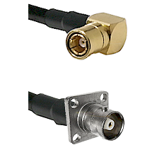 SMB Right Angle Female on RG400 to C 4 Hole Female Cable Assembly