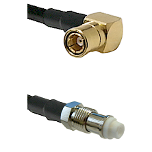 SMB Right Angle Female on RG400 to FME Female Cable Assembly