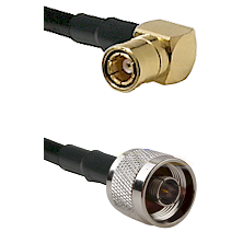 SMB Right Angle Female on RG400 to N Male Cable Assembly