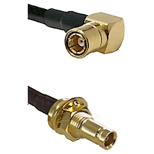 SMB Right Angle Female on RG58C/U to 10/23 Female Bulkhead Cable Assembly