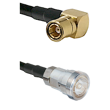 SMB Right Angle Female on RG58C/U to 7/16 Din Female Cable Assembly