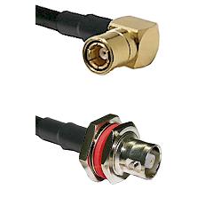 SMB Right Angle Female on RG58C/U to C Female Bulkhead Cable Assembly