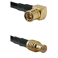 SMB Right Angle Female on RG58C/U to MCX Male Cable Assembly