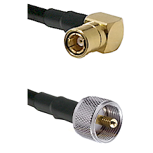 SMB Right Angle Female on RG58C/U to UHF Male Cable Assembly