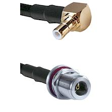 Right Angle SMB Male To N Female Bulk Head Connectors LMR-195-UF UltraFlex Custom Coaxial Cab