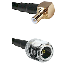 SMB Right Angle Male on LMR200 UltraFlex to N Female Cable Assembly
