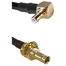 SMB Right Angle Male on RG142 to 10/23 Female Bulkhead Cable Assembly