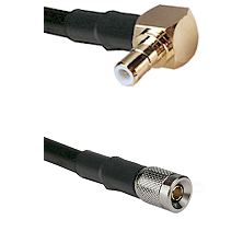 SMB Right Angle Male on RG142 to 10/23 Male Cable Assembly