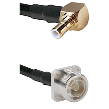 SMB Right Angle Male on RG142 to 7/16 4 Hole Female Cable Assembly
