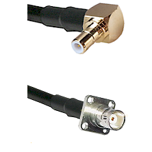 SMB Right Angle Male on RG142 to BNC 4 Hole Female Cable Assembly