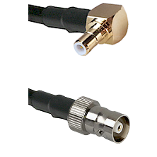 SMB Right Angle Male on RG142 to C Female Cable Assembly