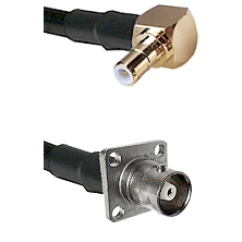 SMB Right Angle Male on RG142 to C 4 Hole Female Cable Assembly