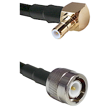 SMB Right Angle Male on RG142 to C Male Cable Assembly