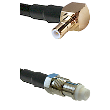 SMB Right Angle Male on RG142 to FME Female Cable Assembly