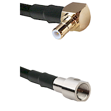SMB Right Angle Male on RG142 to FME Male Cable Assembly